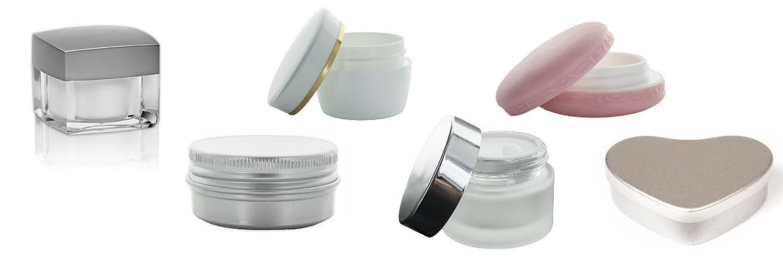 Stort udvalg af beholdere til kosmetik - klik her for at se dem