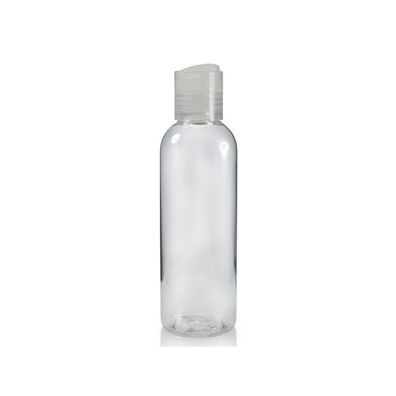 Image of   100 ml. klar flaske med tryk åbn og luk hætte