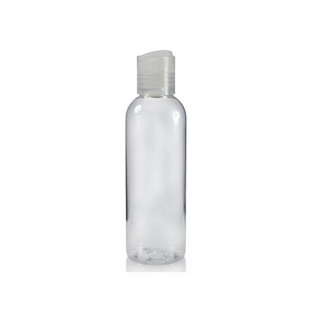 100 ml. klar flaske med tryk åbn og luk hætte