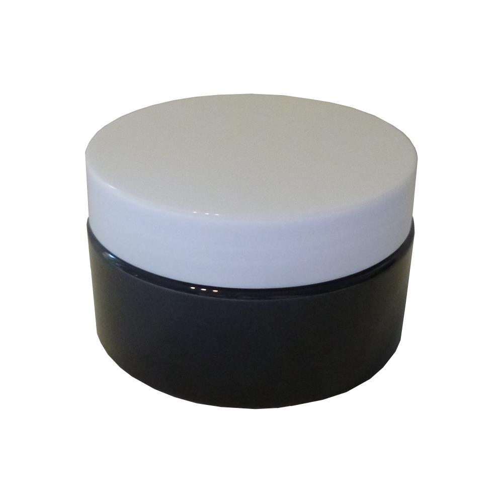 Image of 100 ml. Creme bøtte sort m. hvidt låg