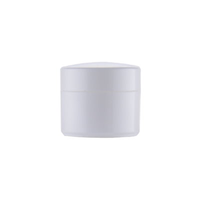 Image of   10 ml. hvid creme bøtte i plast