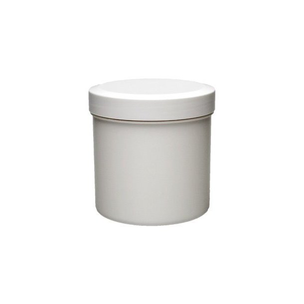 125 ml. hvid plast dåse