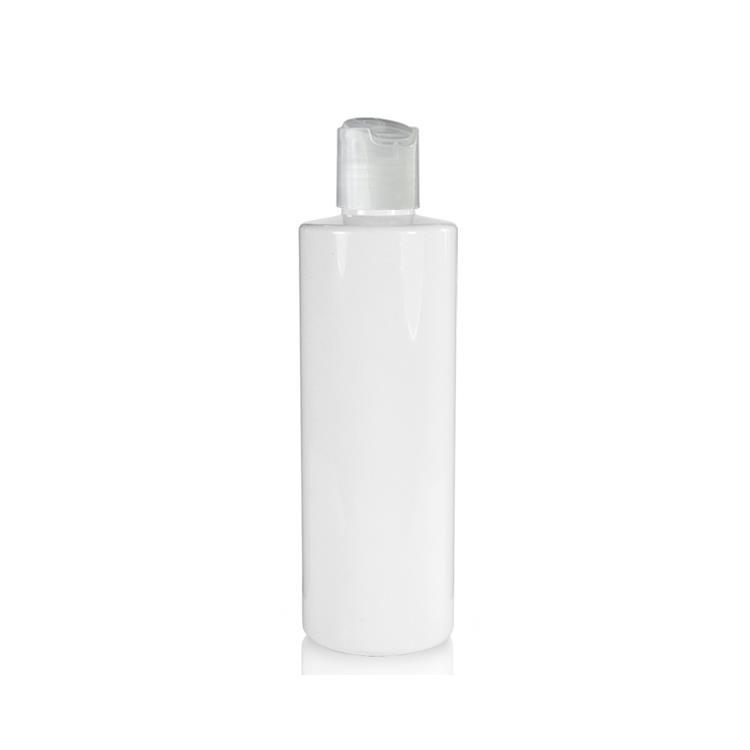 Image of   250 ml. hvid flaske med tryk åbn og luk hætte