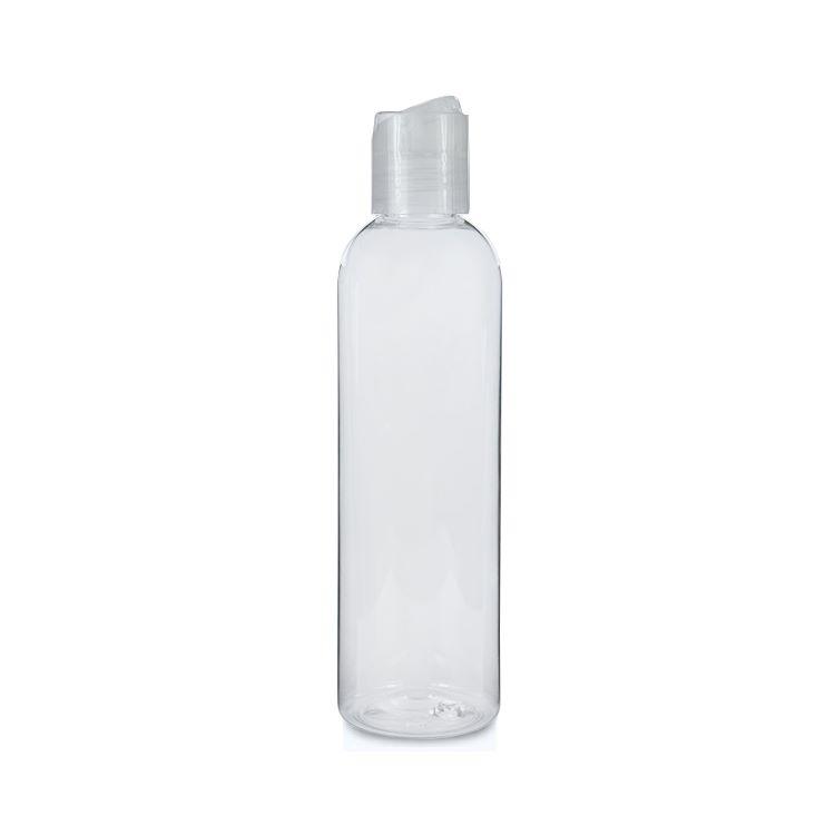 Image of   250 ml. klar flaske med tryk åbn og luk hætte
