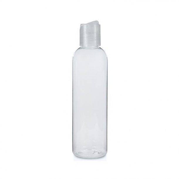 250 ml. klar flaske med tryk åbn og luk hætte