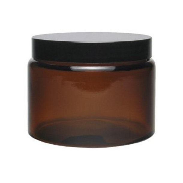 500 ml. brun glas bøtte m. sort låg