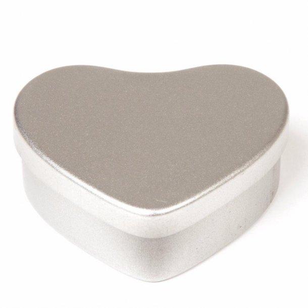 50 ml. hjerteformet blikæske