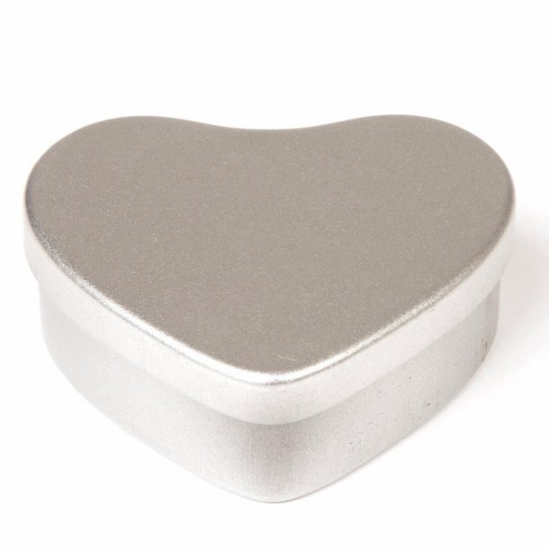 50 ml. hjerteformet aluminiumsæske