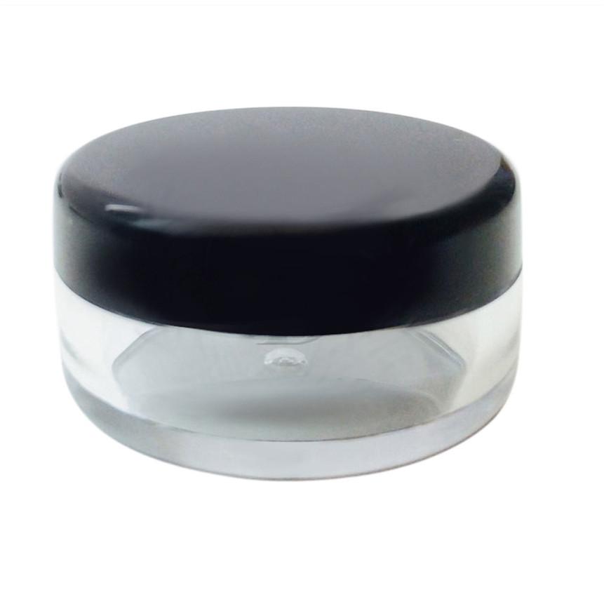 Image of   3 ml Rund beholder med farvet eller klar låg Sort låg