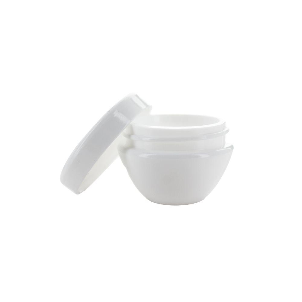Image of   5 ml. hvid creme bøtte i plast