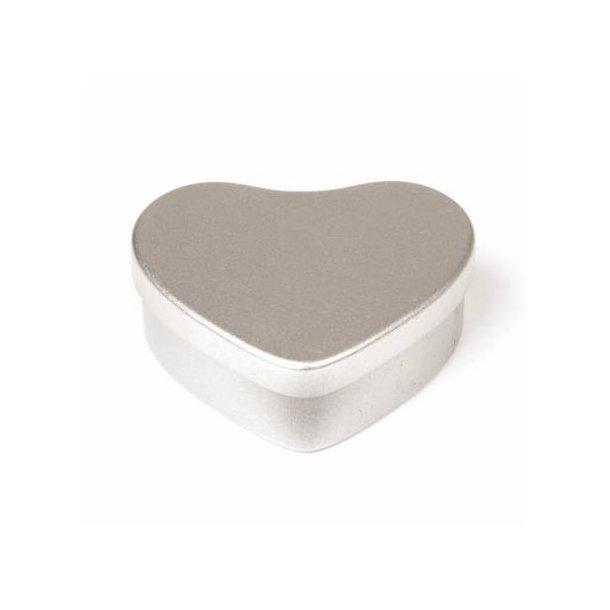 20 ml. hjerteformet blikæske