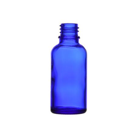 Image of 30 ml. blå glasflaske