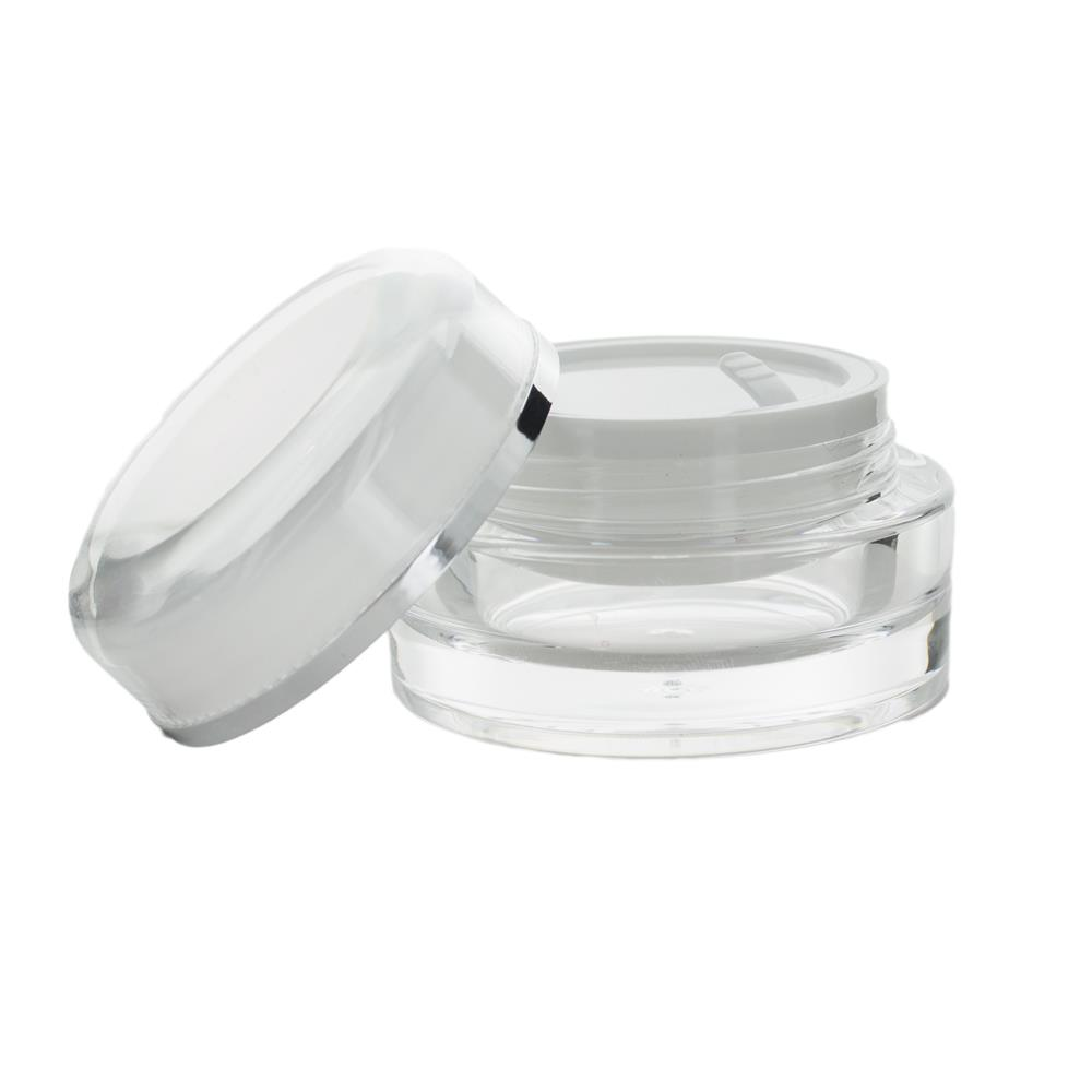 Image of 15 ml. creme bøtte m. sølvkant