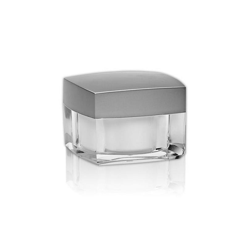 Image of   30 ml. firkantet creme bøtte m. sølvlåg