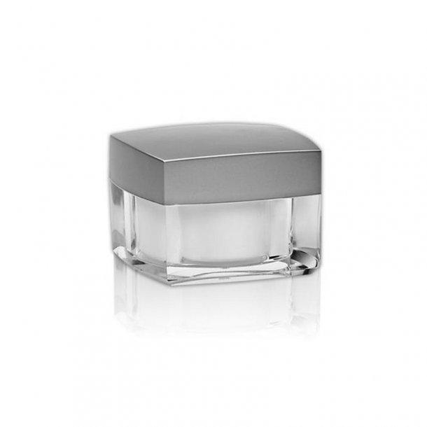 30 ml. firkantet creme bøtte m. sølvlåg