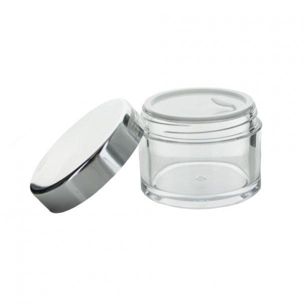 15 ml. plastbøtte m. sølvlåg