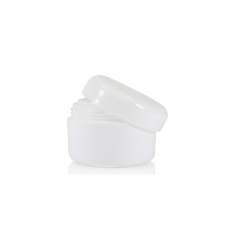 Image of 15 ml. hvid creme bøtte i plast