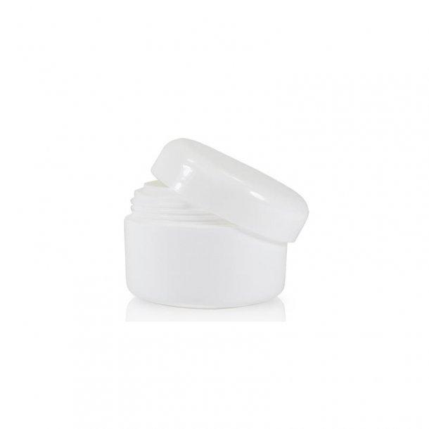 15 ml. hvid creme bøtte i plast