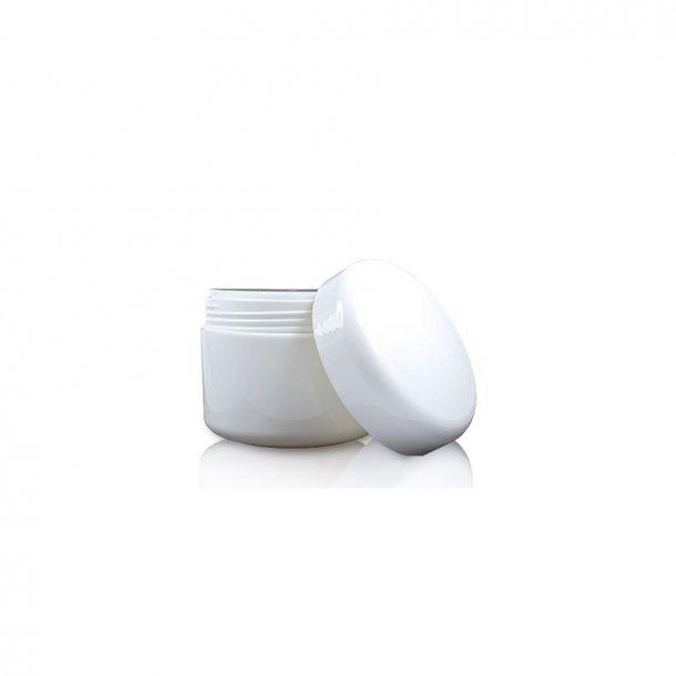 5 ml. hvid creme bøtte i plast