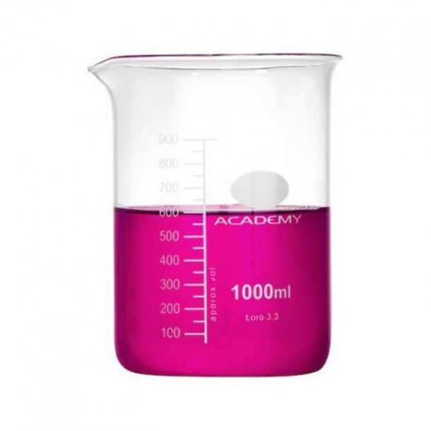 Ildfast målebæger i glas 1000 ml.