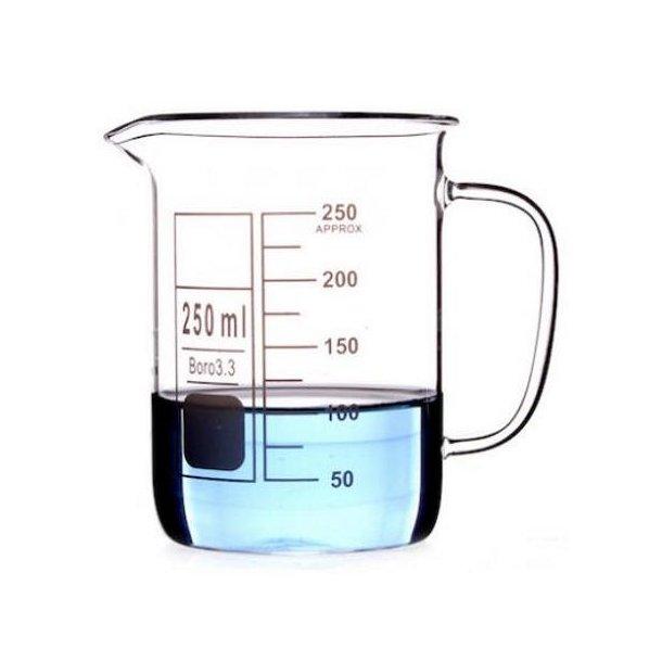 Ildfast målebæger i glas 250 ml. med håndtag