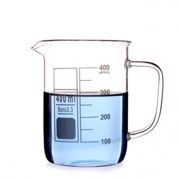 Ildfast målebæger i glas 400 ml. med håndtag