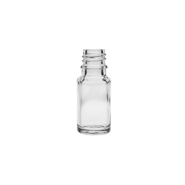 10 ml. klar glasflaske