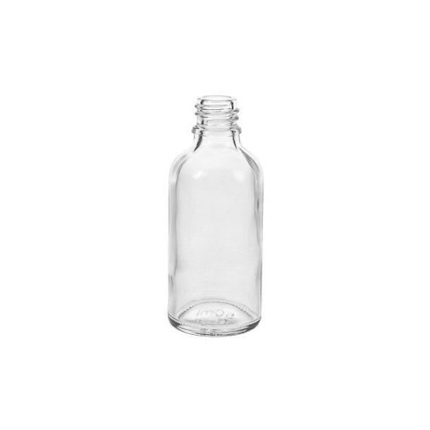 50 ml. klar glasflaske