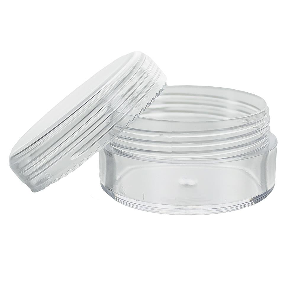 Image of 10 ml. rund bøtte - gennemsigtig