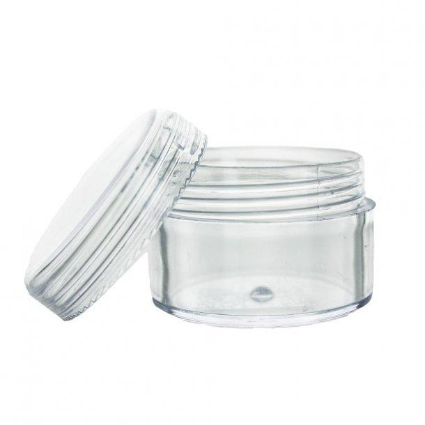 15 ml. rund bøtte - gennemsigtig